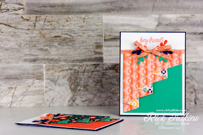 Learn how to create a fun and easy drapery fun fold card using the Sweet Symmetry DSP and In Symmetry ?bundle from Stampin' Up!