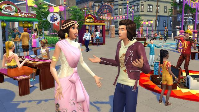 Escena de los modos de juego del videojuego los sims 4 urbanitas