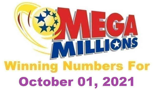 Mega Millions Winning Numbers for Friday, October 01, 2021