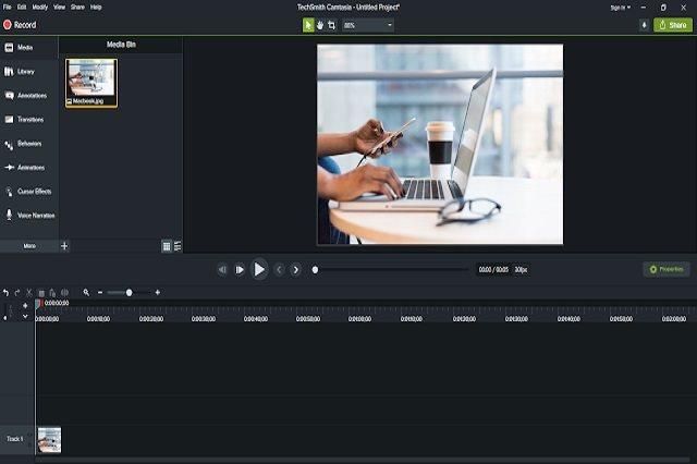 تحميل برنامج تصوير شاشة الجهاز وإنشاء مونطاج الصوت والفيديو Camtasia للويندوز