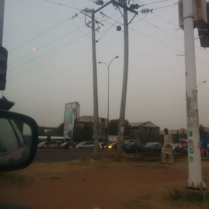 Very risky: High tension pole about to fall in Abuja (photos)
