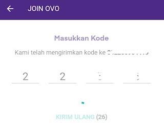 Mendaftar akun OVO