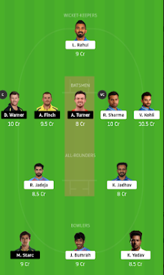 AUS vs IND Dream11 team prediction
