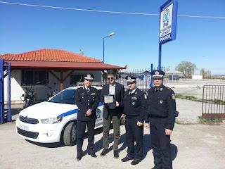 Πραγματοποιήθηκε η παράδοση περιπολικού αυτοκινήτου στο Αστυνομικό Τμήμα Αιγινίου