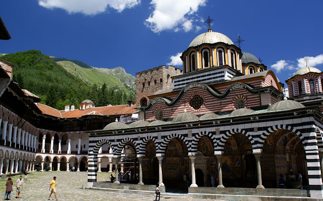 Rila Monastery yard
