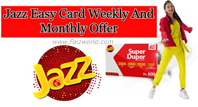 Jazz easy card offer Weekly and Monthly 2021
