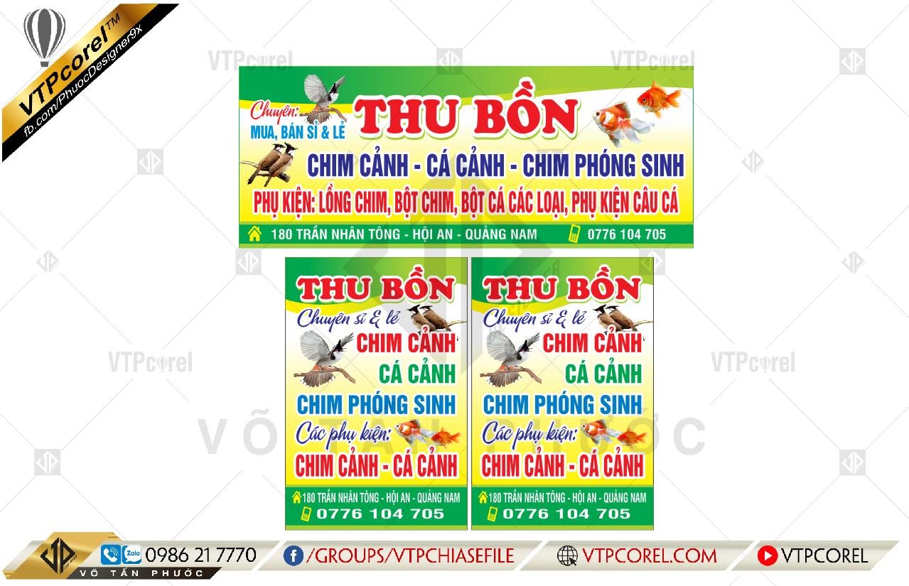 Bảng hiệu Quảng cáo tiệm Chim cảnh & Cá cảnh CDR12