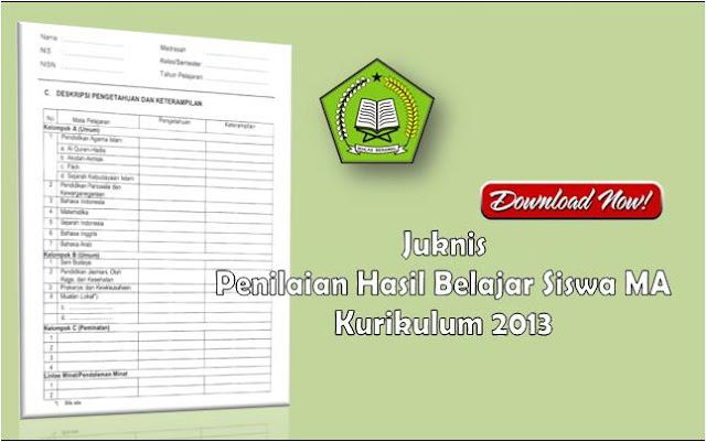 Juknis Penilaian Hasil Belajar MA Kurikulum 2013
