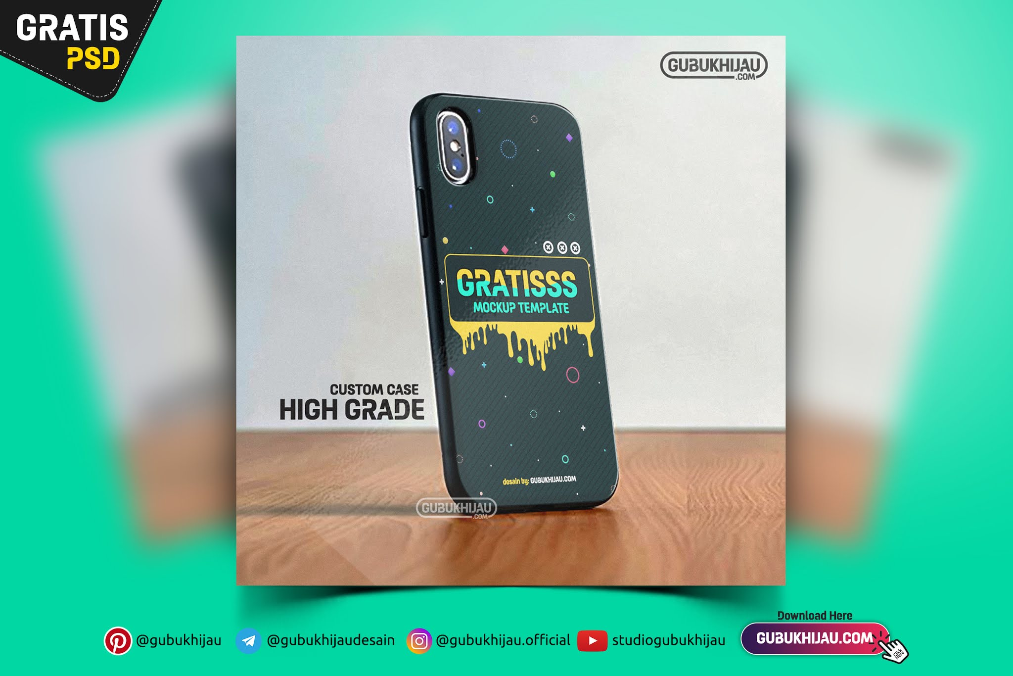 Mockup Blackmatte Case Iphone X