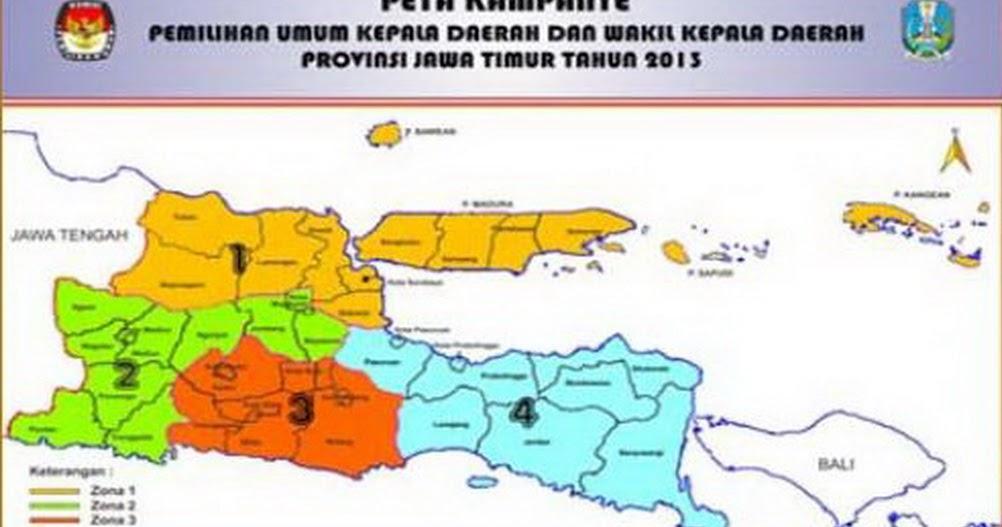 Peta dan Zona Kampanye Pilgub Jatim 2013 || PPK PPS DANDER