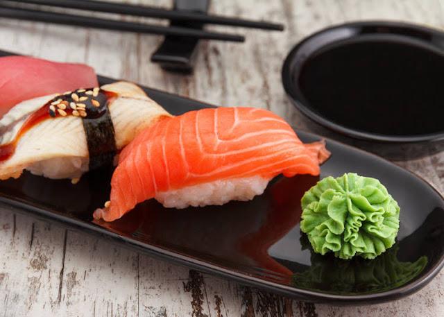 thưởng thức wasabi tươi