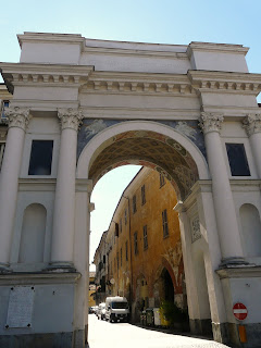 The triumphal arch in Savigliano, erected in honour of Charles Emmanuel I