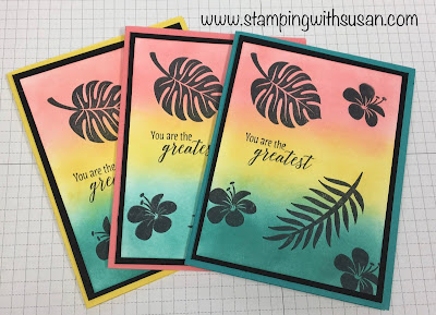 Stampin' Up!, Tropical Chic, Inking, www.stampingwithsusan.com, Susan LaCroix,