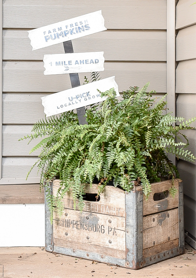 Updated Dollar Tree pumpkin patch sign gets a farmhouse makeover