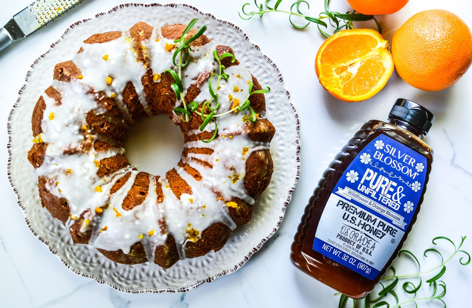 Orange-Rosemary Bundt Cake