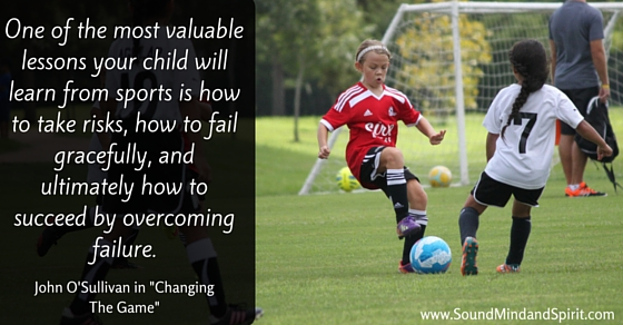 Valuable Lessons your Child will Learn in Sports - Quote with Soccer picture