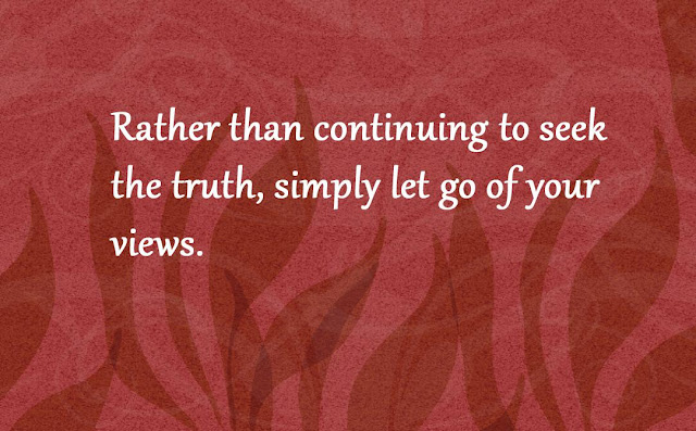 let go of your views Gautama Buddha quotes