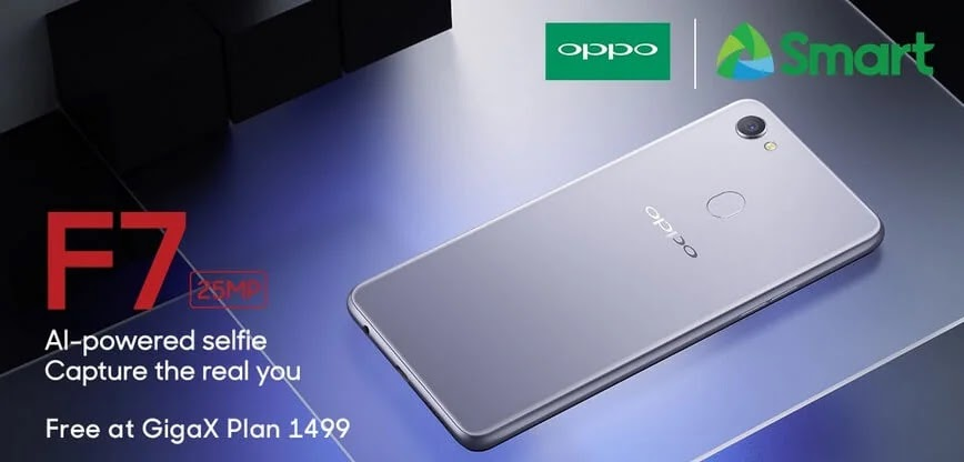 Get an OPPO F7 for Free at Smart GigaX Plan 1499