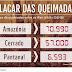Placar das queimadas no Brasil em 2019