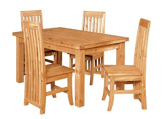 Bộ Bàn ghế bằng gỗ ghép Thông 1