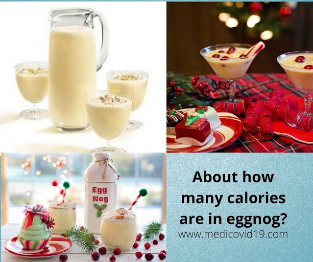 About how many calories are in eggnog?