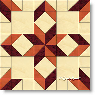 West Virginia quilt block image © Wendy Russell