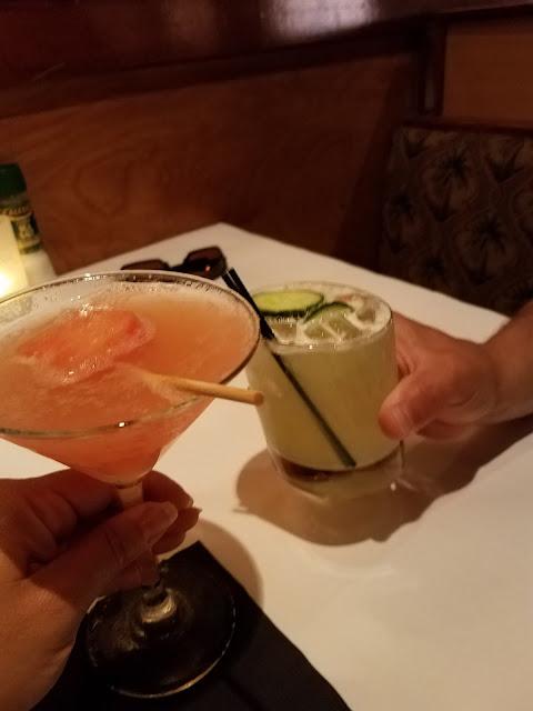 summer menu, seafood, cleveland seafood restaurant, cucumber margarita, watermelon martini