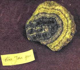 Blue John spar, Buxton Museum