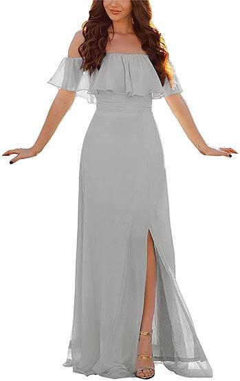 Best Gray Chiffon Bridesmaid Dresses