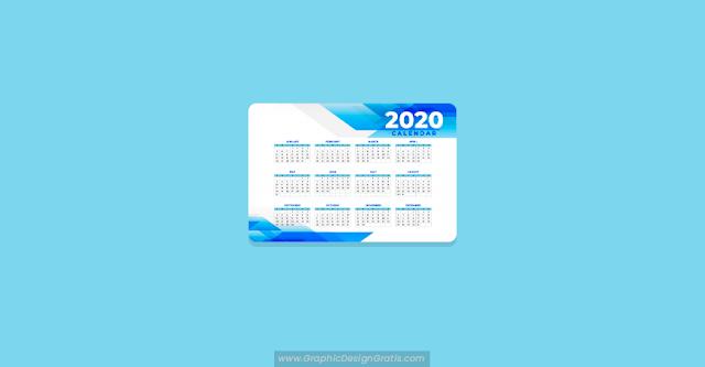 Plantilla de calendario abstracto 2020 gratuito