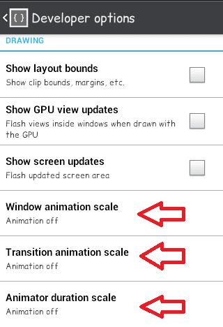 cara mematikan animasi di android untuk mempercepat performa