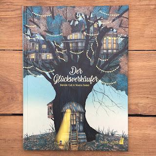 """""""Der Glücksverkäufer"""" von Davide Cali, illustriert von Marco Somà, Bilderbuch erschienen bei Carl Auer Kids, Rezension auf Kinderbuchblog Familienbücherei"""