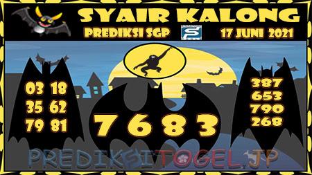 Syair Kalong SGP Kamis 17-Jun-2021