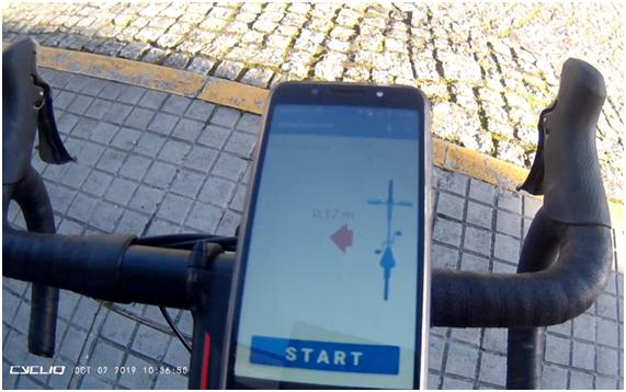 La Fundación Ado Moure y la Universidad de Vigo idearon un sistema para medir la distancia de adelantamientos indebidos a ciclistas