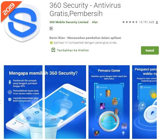Antivirus Terbaik Untuk Android - 360 Security