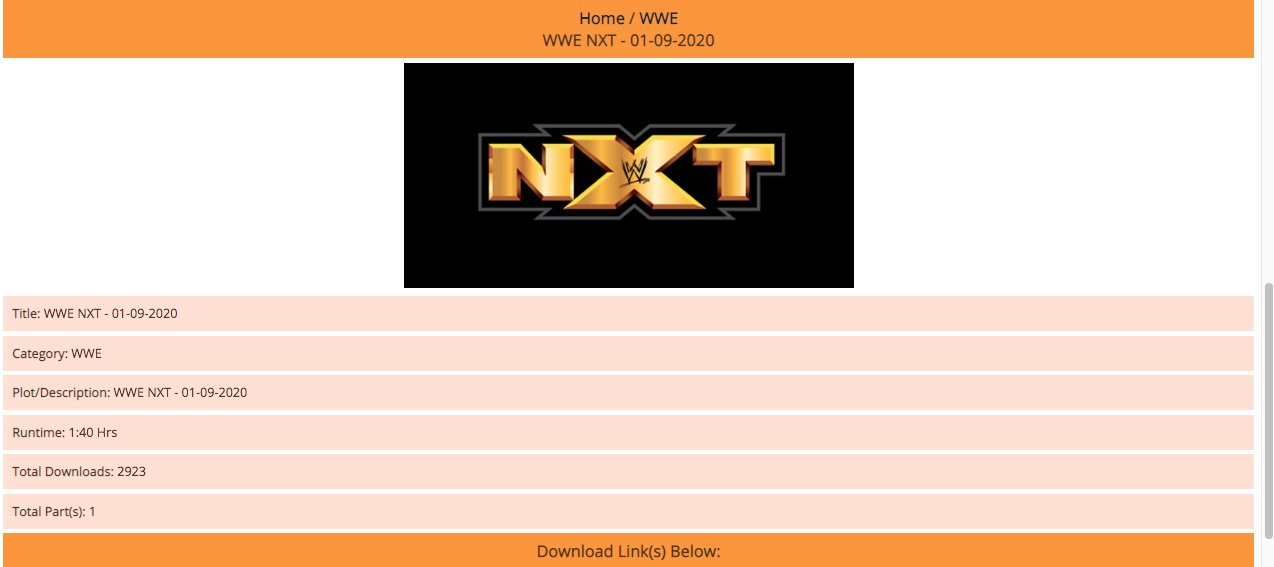WWE NXT Download