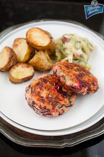 Burgery z kurczaka i botwinki