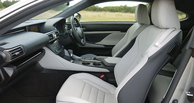 Lexus RC 300h front interior