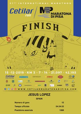 MARATON de PISA - Resultados Maraton de Pisa