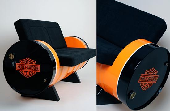 contoh sofa minimalis dari drum bekas