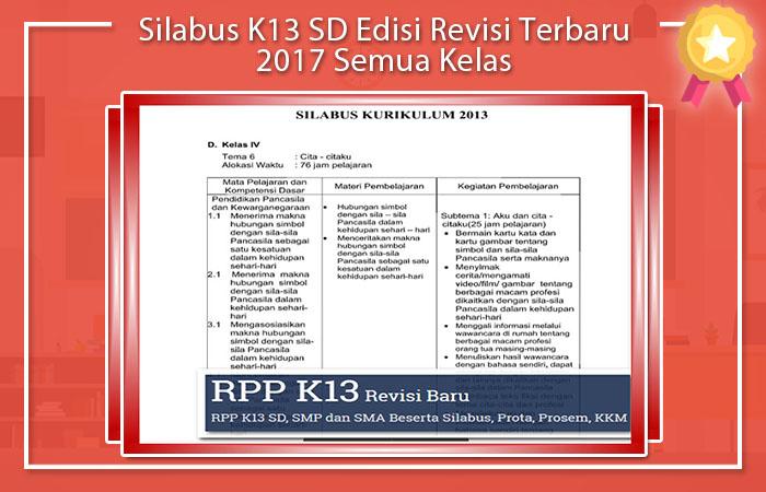 Silabus K13 Kelas 4 Revisi 2017