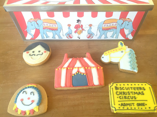 Biscuiteers Christmas circus tin