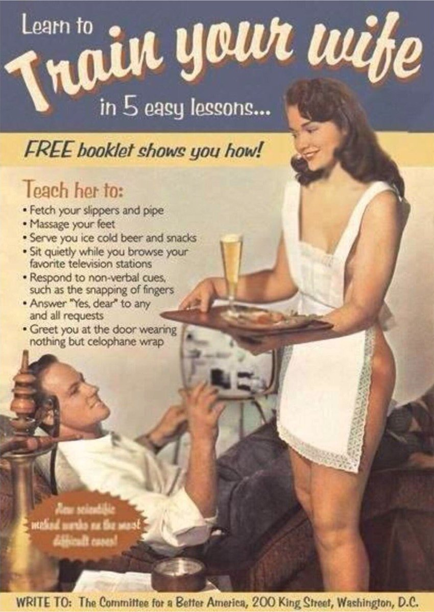 Free Booklet From the 1950s Shows You How to Train Your Wife in 5 Easy Lessons