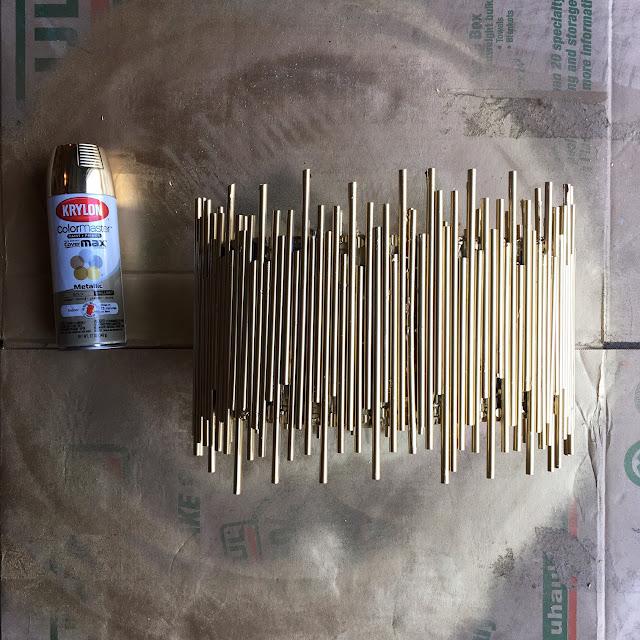 DIY Gold Chandelier Anthropologie hack 8