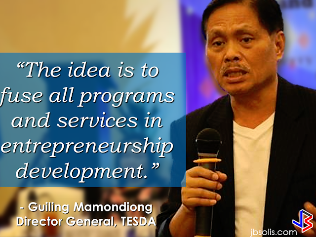 "Technical Education and Skills Development Authority (TESDA) said that  with the launch of ""skillspreneurship"" concept which aims to provide skills training in entrepreneurship for the graduates of Training for Work Scholarship Program (TWSP) and other scholars of the agency, they will produce around 20,000 new businessmen. The concept will also provide the government the opportunity to widen the coverage of providing skills through the development of entrepreneurship.   The government agency has coordinated with the Department of Trade and Industry (DTI) and Department of Labor and Employment (DOLE) for the implementation of entrepreneurship and livelihood program, according to TESDA Director General, Secretary Guiling ""Gene"" Mamondiong.  Based on the plan, the concept will produce some 20,000 entrepreneurs who will each hire up to five employees to generate employment and entrepreneurship.      ""The program is a convergence of TESDA, DTI, DOLE, DSWD (Department of Social Welfare and Development) and the LGU (Local Government Unit). TESDA regional/provincial director will initiate and forge a partnership between and among the government agencies and or other private entities. The idea is to fuse all programs and services in entrepreneurship development. The idea is that the skills acquired in TESDA training is utilized to come up with an enterprise idea,"" Mamondiong said, while discussing the concept of the program.  ""Selected graduates of TESDA (TWSP scholar) will be trained on entrepreneurship development. The selection shall be done using an instrument provided by the DTI that shall pre-qualify the graduate.  DTI will be tapped for the entrepreneurship development program and will nurture the graduates, feasibility study preparation including marketing until they are able to set up their own enterprise"", as included in the concept of the skillspreneurship program.   Both the DOLE and DSWD will also provide capital assistance to TESDA and create a group that will establish a family enterprise in the country. The local government units then will monitor and ensure that the business created through skillpreneurship will be established on a long-term basis.        RECOMMENDED: ON JAKATIA PAWA'S EXECUTION: ""WE DID EVERYTHING.."" -DFA  BELLO ASSURES DECISION ON MORATORIUM MAY COME OUT ANYTIME SOON  SEN. JOEL VILLANUEVA  SUPPORTS DEPLOYMENT BAN ON HSWS IN KUWAIT  AT LEAST 71 OFWS ON DEATH ROW ABROAD  DEPLOYMENT MORATORIUM, NOW! -OFW GROUPS  BE CAREFUL HOW YOU TREAT YOUR HSWS  PRESIDENT DUTERTE WILL VISIT UAE AND KSA, HERE'S WHY  MANPOWER AGENCIES AND RECRUITMENT COMPANIES TO BE HIT DIRECTLY BY HSW DEPLOYMENT MORATORIUM IN KUWAIT  UAE TO START IMPLEMENTING 5%VAT STARTING 2018  REMEMBER THIS 7 THINGS IF YOU ARE APPLYING FOR HOUSEKEEPING JOB IN JAPAN  KENYA , THE LEAST TOXIC COUNTRY IN THE WORLD; SAUDI ARABIA, MOST TOXIC  ""JUNIOR CITIZEN ""  BILL TO BENEFIT POOR FAMILIES"