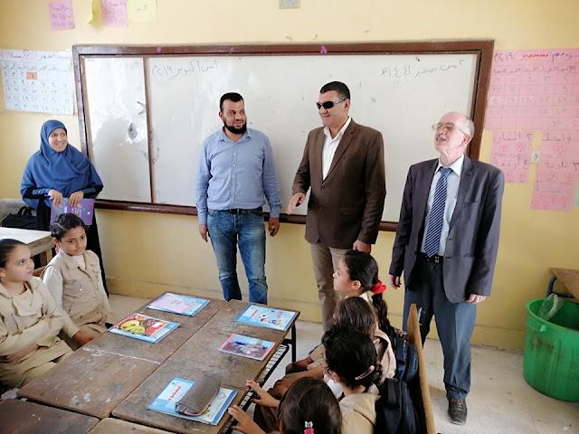 بالصور .. الفقى يواصل زياراته التفقدية لمدارس مديرية التحرير التعليمية