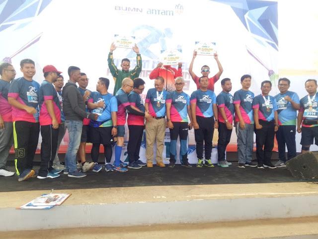 Prajurit Kostrad Sapu 3 Nomor Lari Antam Nikel Run 2019