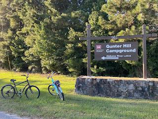 Sign at Gunter Hill COE Campground