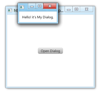 Create Dialog using Stage