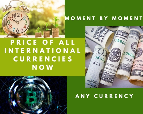 Prices of all international currencies now